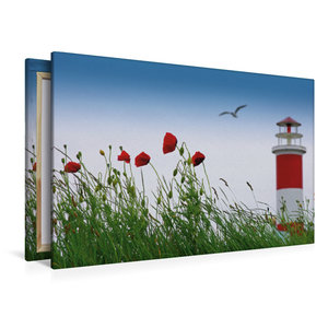Premium Textil-Leinwand 120 cm x 80 cm quer Sommerfreude am Meer