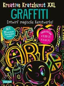 Kreative Kratzkunst XXL: Graffiti: Set mit 20 Kratztafeln, Mappe