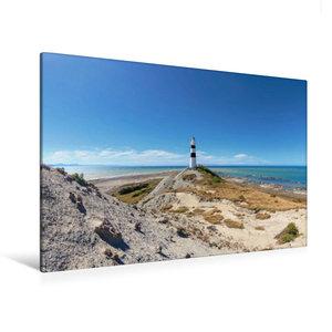 Premium Textil-Leinwand 120 cm x 80 cm quer Cape Campbell Lighth