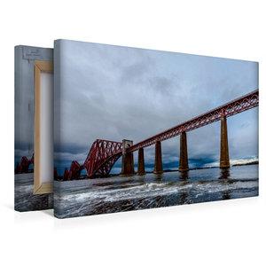Premium Textil-Leinwand 45 cm x 30 cm quer Forth Bridge