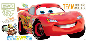 RoomMates DISNEY Cars 2 Lightning McQueen Wandtattoo