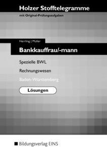 Stofftelegramme Bankkauffrau/-mann. Baden-Württemberg