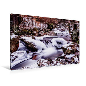 Premium Textil-Leinwand 90 cm x 60 cm quer Ilsefälle