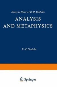 Analysis and Metaphysics