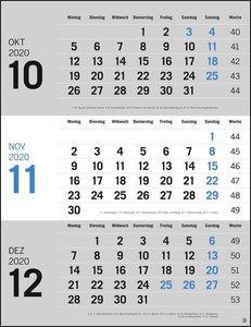3-Monats-Planer, grau Kalender 2020