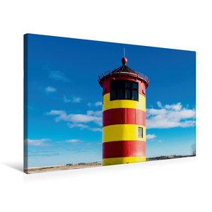 Premium Textil-Leinwand 75 cm x 50 cm quer Pilsumer Leuchtturm