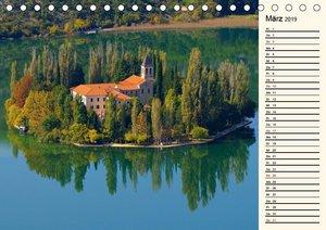Sibenik und die Krka - Unterwegs in Mitteldalmatien (Tischkalend