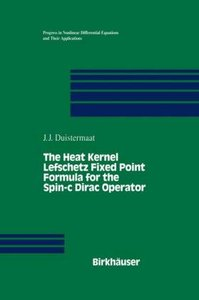 The Heat Kernel Lefschetz Fixed Point Formula for the Spin-c Dir