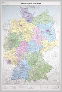 Poster Verwaltungskarte Deutschland 1 : 750 000