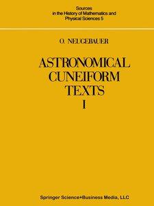 Astronomical Cuneiform Texts