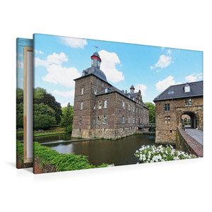 Premium Textil-Leinwand 120 cm x 80 cm quer Wasserschloss Hugenp