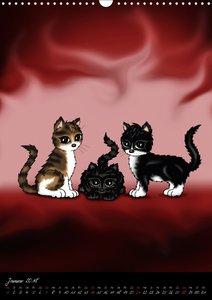 Niedliche Katzen (Wandkalender 2018 DIN A3 hoch)