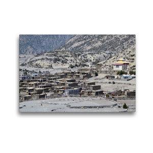 Premium Textil-Leinwand 45 cm x 30 cm quer Oberes Marsyangdi-Tal