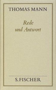 Rede und Antwort ( Frankfurter Ausgabe)