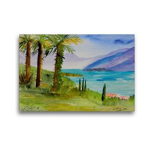 Premium Textil-Leinwand 45 cm x 30 cm quer Am Lago Maggiore