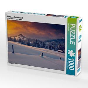 Die Alpen / Deutschland 1000 Teile Puzzle quer