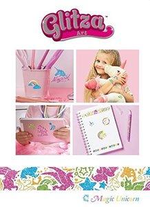 Knorrtoys GL7647 - Glitza Art, Magic Unicorn, 80 Designs, Bastel