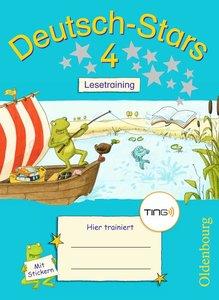 Deutsch-Stars 4. Schuljahr Lesetraining. Ting-Ausgabe