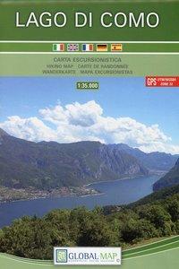 LAC Topographische Karte Lago di Como 1:35000