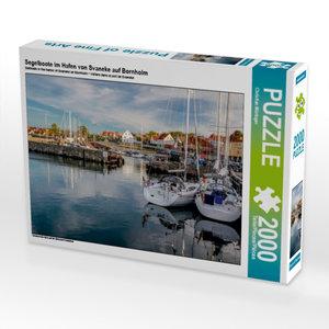 Segelboote im Hafen von Svaneke auf Bornholm 2000 Teile Puzzle q