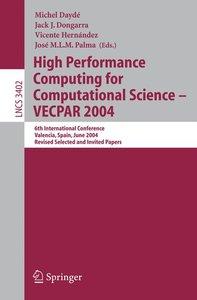 High Performance Computing for Computational Science - VECPAR 20