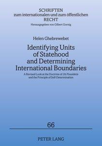 Identifying Units of Statehood and Determining International Bou