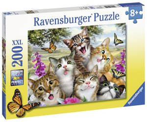 Lustige Katzen Puzzle 200 Teile XXL