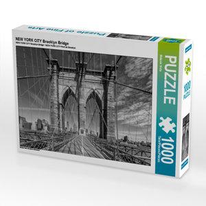 CALVENDO Puzzle NEW YORK CITY Brooklyn Bridge 1000 Teile Lege-Gr