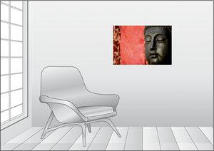 Premium Textil-Leinwand 75 cm x 50 cm quer BUDDHA - Ruhe