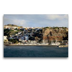 Premium Textil-Leinwand 75 cm x 50 cm quer Gomera - San Sebastia