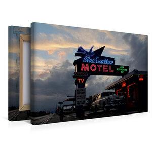 Premium Textil-Leinwand 45 cm x 30 cm quer Blue Swallow Motel, T