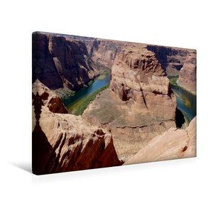 Premium Textil-Leinwand 45 cm x 30 cm quer Horseshoe Bend, Arizo