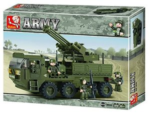 Sluban ARMY M38-B0302 - Mobile Flak - Flugabwehrgeschütz-Wagen,