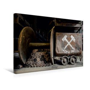 Premium Textil-Leinwand 45 cm x 30 cm quer Förderwagen