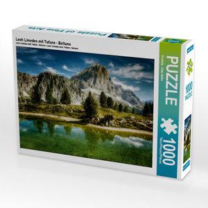 Lech Limedes mit Tofane - Belluno 1000 Teile Puzzle quer