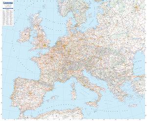 Europa 1 : 3 000 000 physisch. Planokarte