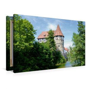 Premium Textil-Leinwand 90 cm x 60 cm quer Zollernschloss Baling