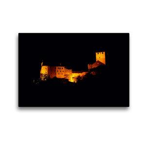 Premium Textil-Leinwand 45 cm x 30 cm quer Schloss Tirol bei Nac