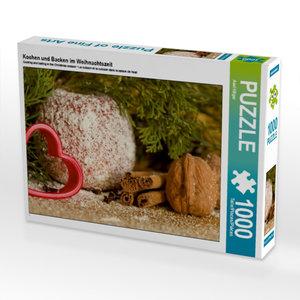 Kochen und Backen im Weihnachtszeit 1000 Teile Puzzle quer