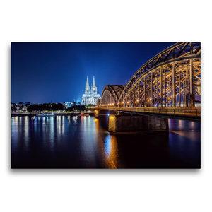 Premium Textil-Leinwand 75 cm x 50 cm quer Kölner Dom