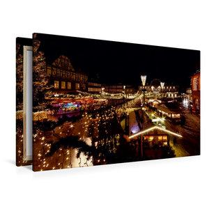 Premium Textil-Leinwand 120 cm x 80 cm quer Weihnachtsmarkt in G