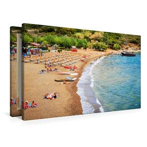Premium Textil-Leinwand 90 cm x 60 cm quer Barbarossa Strand in