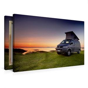 Premium Textil-Leinwand 75 cm x 50 cm quer Andenes Nordland No