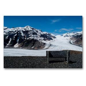 Premium Textil-Leinwand 90 cm x 60 cm quer Salmon Glacier