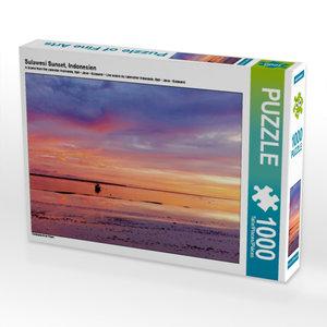 Sulawesi Sunset, Indonesien 1000 Teile Puzzle quer