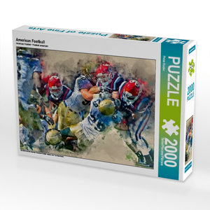 American Football 2000 Teile Puzzle quer