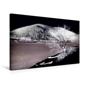 Premium Textil-Leinwand 75 cm x 50 cm quer Winterzone