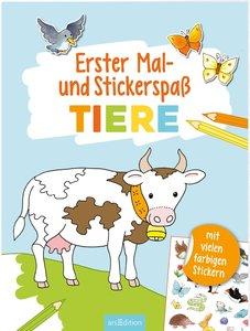 Erster Mal- und Stickerspaß Tiere