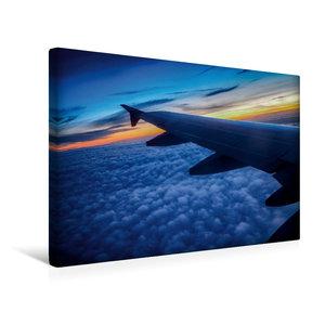 Premium Textil-Leinwand 45 cm x 30 cm quer Über den Wolken
