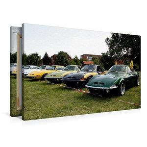 Premium Textil-Leinwand 90 cm x 60 cm quer Opel GT